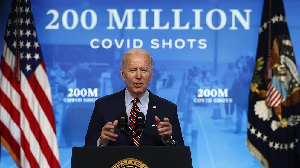Hasta la fecha Estados Unidos donó unas 160 millones de dosis a más de 100 países diferentes (Foto AFP)