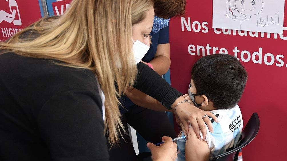 Comenzó la vacunación a niños de 3 a 11 años en la provincia de Buenos Aires. (Foto Gustavo Amarelle)